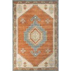 Contemporary Tribal Pattern Red/Blue Wool Area Rug (9X12)