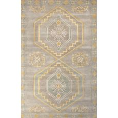 Contemporary Tribal Pattern Gray/Blue Wool Area Rug (8X10)