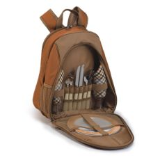 Fairmont Two Person Picnic Backpack, Brown