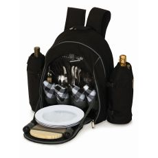 Stratton Four Person Picnic Backpack, Black