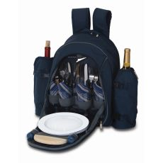 Stratton Four Person Picnic Backpack, Navy