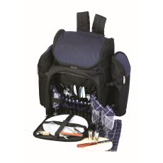 Tandoor Four Person Picnic Backpack, Navy