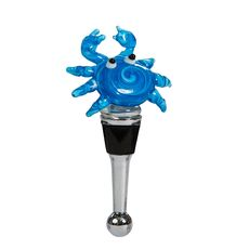Blue Crab Crab Bottle Stopper
