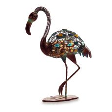 Metal Flamingo Wine Cork Caddy