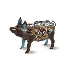 Metal Pig Wine Cork Caddy
