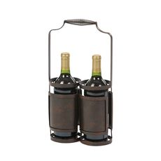 Black Doppia Wine Bottle Holder