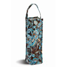 Coated Canvas Moxie Wine Tote, Cocoa Cosmos