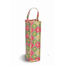 Coated Canvas Moxie Wine Tote, Green Gazebo