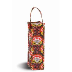 Coated Canvas Moxie Wine Tote, Orange Martini