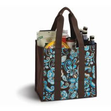 Coated Canvas Moxie Town Tote, Cocoa Cosmos
