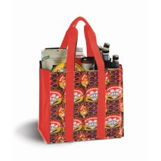 Coated Canvas Moxie Town Tote, Orange Martini