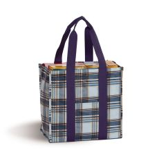 Coated Canvas Moxie Town Tote, Varsity Plaid