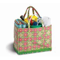 Coated Canvas Moxie Family Tote, Green Gazebo