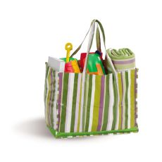Coated Canvas Moxie Family Tote, Lime Rickey