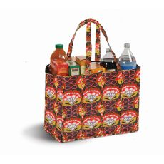Coated Canvas Moxie Family Tote, Orange Martini