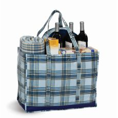 Coated Canvas Moxie Family Tote, Varsity Plaid