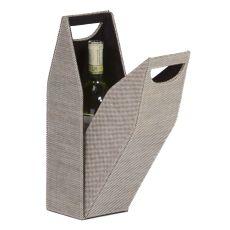 Textile Single Bottle Box, Tweed