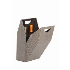 Textile Double Bottle Box, Tweed