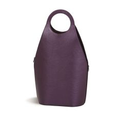 Vegan Leather Soleil Wine Tote, Purple Shimmer