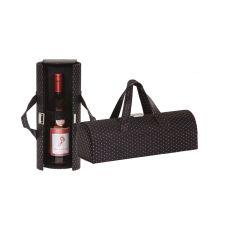 Vegan Leather Carlotta Clutch Wine Bottle Clutch, Black Diamond