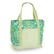 LIDO Two in One Cooler Bag, Green Paisley