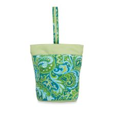 Razz Lunch Tote, Green Paisley