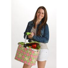 Shelby Collapsible Market Tote, Green Gazebo