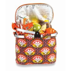 Shelby Collapsible Market Tote, Orange Martini