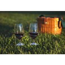 Stainless Steel Handy Holder Wine Glasses - Set of Two, Silver