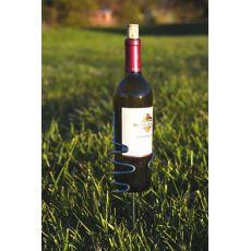 Stainless Steel Handy Holder Wine Bottle, Silver