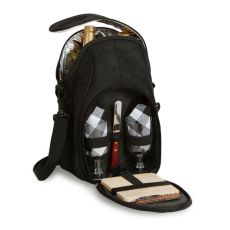 Textile Brava Wine and Cheese Bag, Black
