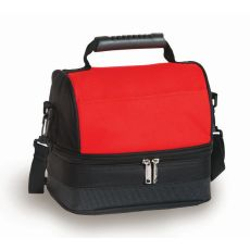 Columbus Lunch Tote, Black/Red