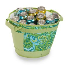 Austin Ice Bucket, Green Paisley