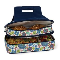 Blue Peacock Entertainer Hot & Cold Food Carrier