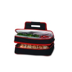 Entertainer Hot and Cold Food Carrier, Black/Red