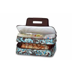 Entertainer Hot and Cold Food Carrier, Cocoa Cosmos