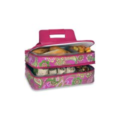 Entertainer Hot and Cold Food Carrier, Pink Desire