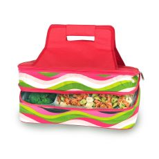 Entertainer Hot and Cold Food Carrier, Wavy Watermelon