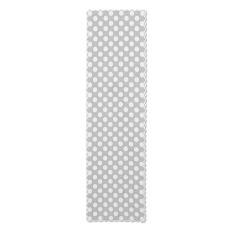 Polka Dot 18X72 Table Runner, White