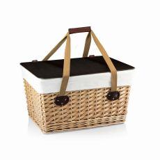Canasta Grande-Natural Flat Lid Basket Willow Brown Lid