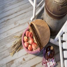 Country Basket - Red/White Gingham