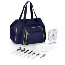 Toluca - Shoulder Pack For 2 - Navy W/Tan