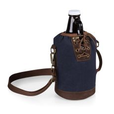 Growler Tote With 64 Oz. Glass Growler - Navy