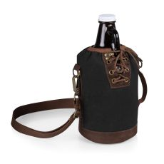 Growler Tote With 64 Oz. Glass Growler - Black