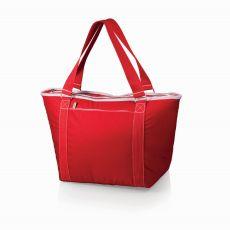 Topanga Insulated Tote Bag- Red W/ White Trim