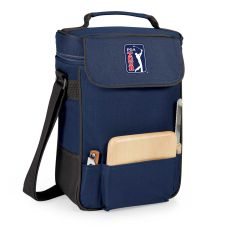Pga Tour - Duet Wine And Cheese Tote By Picnic Time (Navy)