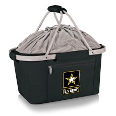 U.S. Army - Metro Basket Collapsible Tote By Picnic Time (Black)
