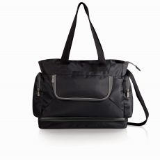 Beach Tote- black with grey interior
