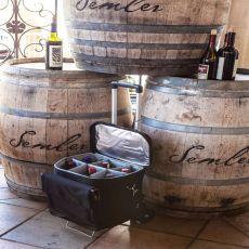 Cellar-6 Bottle Wine Tote-Black Empty