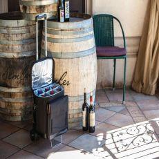 Cellar W/Trolley-Black 6 Bottle Tote